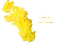 Κίτρινο μελάνι στο νερό Στοκ Φωτογραφίες