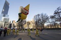 Κίτρινο μπαλόνι νεραιδών στην παρέλαση Macy Στοκ Φωτογραφία
