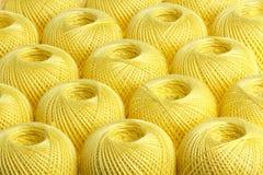 Κίτρινο νήμα υποβάθρου Στοκ εικόνες με δικαίωμα ελεύθερης χρήσης