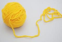 Κίτρινο νήμα Στοκ Εικόνα