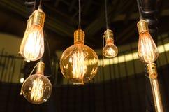Κίτρινο ντεκόρ φωτισμού εσωτερικό στο σπίτι Στοκ Εικόνα