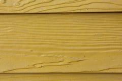 Κίτρινο ξύλινο υπόβαθρο πινάκων Στοκ Φωτογραφίες