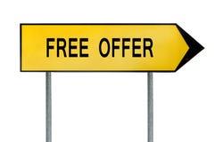 Κίτρινο οδών σημάδι προσφοράς έννοιας ελεύθερο Στοκ φωτογραφία με δικαίωμα ελεύθερης χρήσης