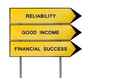 Κίτρινο οικονομικό σημάδι έννοιας οδών Στοκ Φωτογραφία