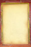 Κίτρινο παλαιό έγγραφο στο παλαιό πλαίσιο Στοκ φωτογραφία με δικαίωμα ελεύθερης χρήσης