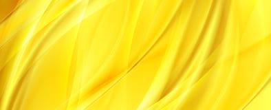 Κίτρινο πορτοκαλί αφηρημένο ομαλό υπόβαθρο κυμάτων απεικόνιση αποθεμάτων
