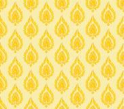 Κίτρινο πορτοκαλί υπόβαθρο σχεδίων της Ταϊλάνδης Στοκ φωτογραφία με δικαίωμα ελεύθερης χρήσης