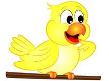 κίτρινο πουλί κινούμενων σχεδίων Στοκ Εικόνα