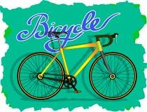 Κίτρινο ποδήλατο διανυσματική απεικόνιση