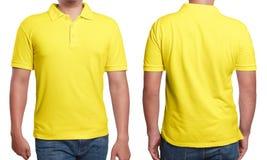 Κίτρινο πρότυπο σχεδίου πουκάμισων πόλο Στοκ Εικόνες