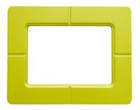 Κίτρινο πλαίσιο φωτογραφιών - που απομονώνεται στο άσπρο υπόβαθρο Στοκ Εικόνα