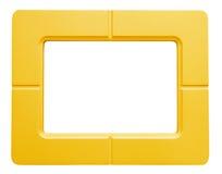Κίτρινο πλαίσιο φωτογραφιών - που απομονώνεται στο άσπρο υπόβαθρο Στοκ Εικόνες