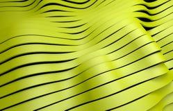 Κίτρινο πλαστικό υπόβαθρο λωρίδων Στοκ εικόνες με δικαίωμα ελεύθερης χρήσης
