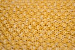 Κίτρινο πλεκτό σχέδιο Στοκ Φωτογραφία