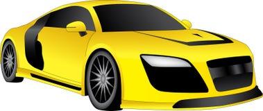 Κίτρινο δροσερό αυτοκίνητο Στοκ Φωτογραφίες
