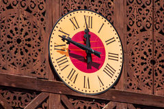 Κίτρινο ρολόι Στοκ φωτογραφίες με δικαίωμα ελεύθερης χρήσης