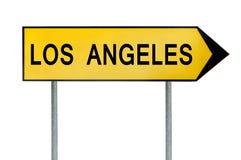 Κίτρινο σημάδι Λος Άντζελες έννοιας οδών που απομονώνεται στο λευκό στοκ εικόνες με δικαίωμα ελεύθερης χρήσης