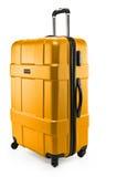 Κίτρινο σκοτεινό πλαστικό βαλιτσών μισό-που γυρίζουν Στοκ φωτογραφία με δικαίωμα ελεύθερης χρήσης