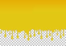 Κίτρινο στάζοντας slime άνευ ραφής στοιχείο απεικόνιση αποθεμάτων
