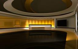 Κίτρινο στούντιο Στοκ Εικόνα