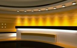 Κίτρινο στούντιο Στοκ εικόνα με δικαίωμα ελεύθερης χρήσης
