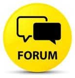 Κίτρινο στρογγυλό κουμπί φόρουμ απεικόνιση αποθεμάτων