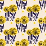 Κίτρινο σχέδιο λουλουδιών Στοκ φωτογραφία με δικαίωμα ελεύθερης χρήσης