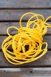 Κίτρινο σχοινί Στοκ Εικόνα