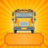 Κίτρινο σχολικό λεωφορείο απεικόνιση αποθεμάτων