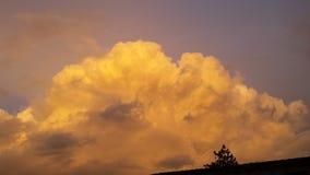 Κίτρινο σύννεφο βροχής Στοκ φωτογραφίες με δικαίωμα ελεύθερης χρήσης