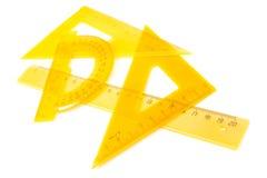 Κίτρινο σύνολο μέτρησης των εργαλείων Στοκ Εικόνα