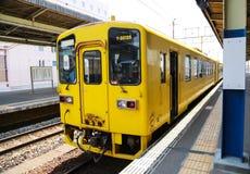 Κίτρινο τραίνο Στοκ Εικόνα