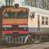 Κίτρινο τραίνο diesel Στοκ Εικόνες