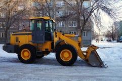 Κίτρινο τρακτέρ! Στοκ φωτογραφία με δικαίωμα ελεύθερης χρήσης
