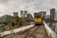 Κίτρινο τραμ Santa Τερέζα Στοκ Φωτογραφία