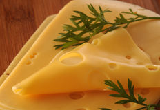 Κίτρινο τυρί Στοκ φωτογραφίες με δικαίωμα ελεύθερης χρήσης