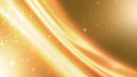 Κίτρινο υπόβαθρο κινήσεων γραμμών και μορίων απόθεμα βίντεο