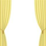 Κίτρινο υπόβαθρο κουρτινών Στοκ Εικόνα