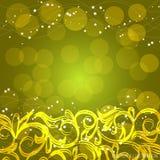 Κίτρινο υπόβαθρο με τα διακοσμητικά σύνορα επίσης corel σύρετε το διάνυσμα απεικόνισης Στοκ εικόνα με δικαίωμα ελεύθερης χρήσης