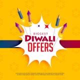 Κίτρινο υπόβαθρο πώλησης Diwali με τις κροτίδες Στοκ εικόνες με δικαίωμα ελεύθερης χρήσης