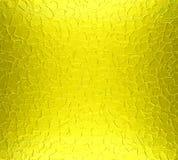 Κίτρινο υπόβαθρο σύστασης μεταλλικών πιάτων Στοκ Φωτογραφίες