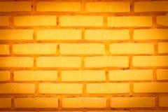 Κίτρινο υπόβαθρο τούβλου Στοκ φωτογραφίες με δικαίωμα ελεύθερης χρήσης