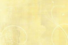 Κίτρινο υπόβαθρο grunge Στοκ Φωτογραφία