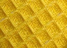 Κίτρινο υφαμένο ύφασμα Στοκ Εικόνα