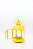 Κίτρινο φανάρι στο άσπρο υπόβαθρο Στοκ φωτογραφία με δικαίωμα ελεύθερης χρήσης