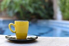 Κίτρινο φασόλι καφέ από τη λίμνη στοκ εικόνα με δικαίωμα ελεύθερης χρήσης
