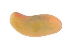 Κίτρινο φρέσκο μάγκο στο άσπρο υπόβαθρο Στοκ Εικόνες