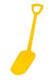 Κίτρινο φτυάρι Στοκ εικόνες με δικαίωμα ελεύθερης χρήσης