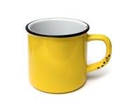 Κίτρινο φλυτζάνι Στοκ Φωτογραφίες