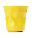 Κίτρινο φλυτζάνι espresso Στοκ φωτογραφίες με δικαίωμα ελεύθερης χρήσης